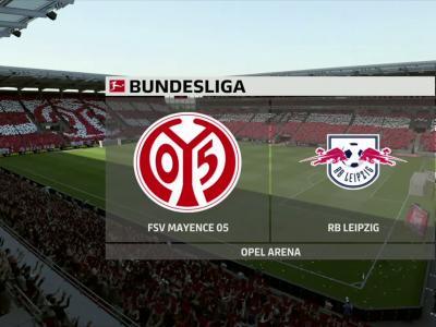 1. FSV Mayence 05 - RB Leipzig sur FIFA 20 : résumé et buts (Bundesliga - 27e journée)