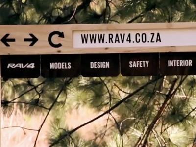 Un site web non virtuel pour la promotion du Toyota RAV4