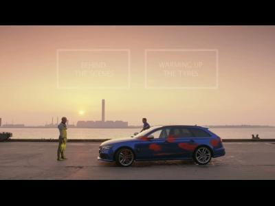 Quand l'Audi RS6 affronte un gymnaste
