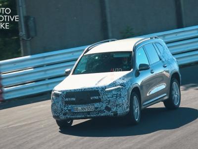 Le futur Mercedes EQB filmé en phase de test sur le Nürburgring