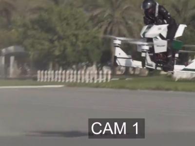 Crash de la Scorpion-3, la moto volante de la police de Dubaï