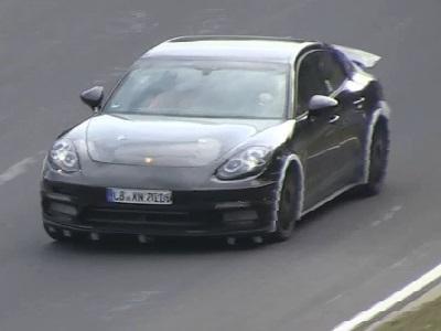 La future Porsche Panamera en test sur le Nürburgring
