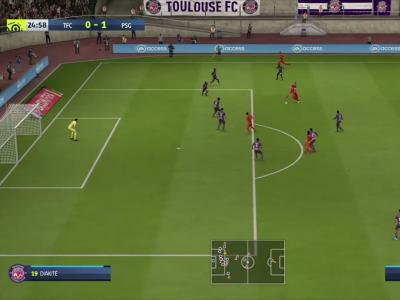 Toulouse FC - PSG sur FIFA 20 : résumé et buts (L1 - 36e journée)