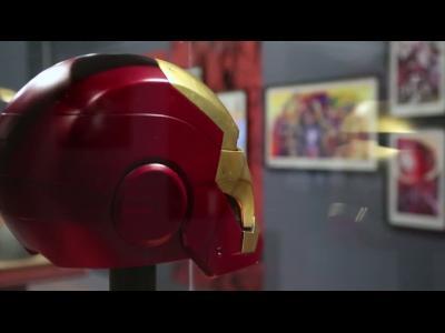 Visite de l'exposition, L'art des super-héros Marvel