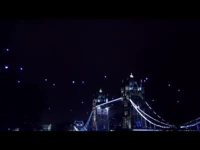 L'Enterprise dans le ciel de Londres