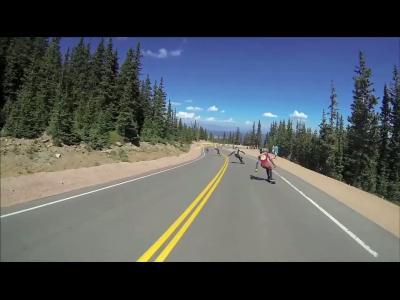 Course en skate en montagne