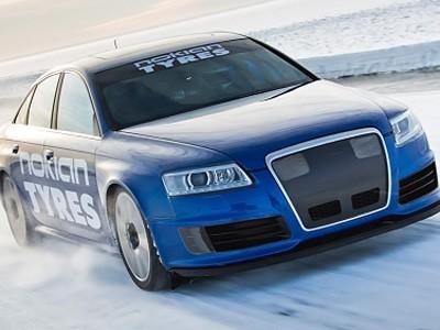 Le record de vitesse sur glace en Audi RS6 en vidéo