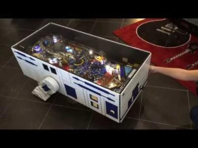 Une table basse R2-D2