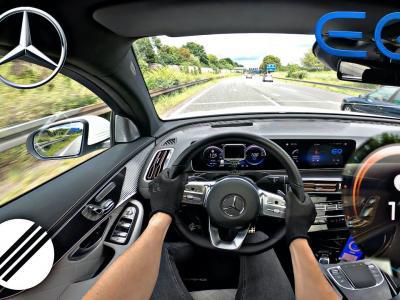 Le Mercedes EQC 400 4Matic poussé à sa vitesse maximale sur Autobahn