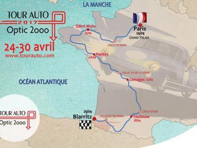 Parcours du Tour Auto 2017