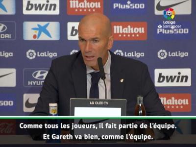 Real Madrid : Zidane est satisfait de Gareth Bale !