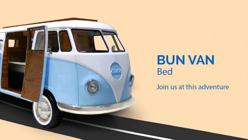 Bun Van Bed Circu : le lit camping-car inspiré par le combi de Volkswagen