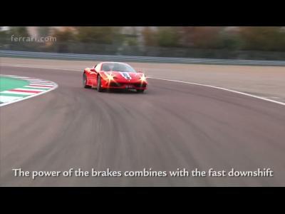 Caméra embarquée à bord de la Ferrari 458 Speciale