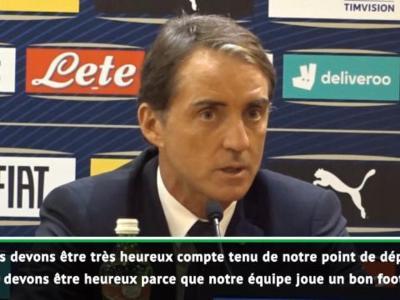 Italie : Mancini heureux après la qualification de son équipe