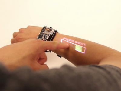 LumiWatch : la montre connectée avec micro-projecteur intégré