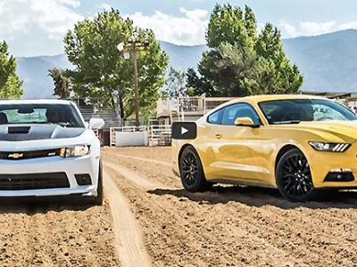 Premier duel entre la Ford Mustang et la Chevrolet Camaro