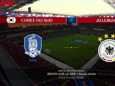 Corée du Sud - Allemagne : notre simulation sur FIFA 18