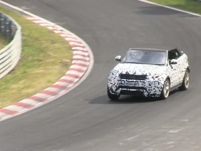 Le Range Rover Evoque Cabriolet testé sur le Nürburgring
