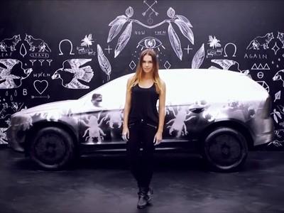 Une oeuvre d'art Volvo crée par la belle Blanda Eggenschwiler