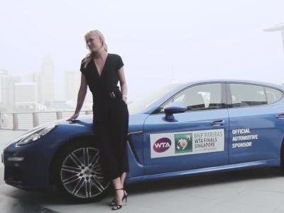 Maria Sharapova a des atomes crochus avec la Porsche Panamera Edition