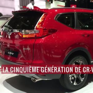 La Honda CR-V 2018 en vidéo au salon de Genève