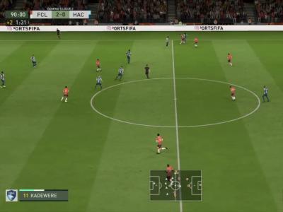FC Lorient - Le Havre AC sur FIFA 20 : résumé et buts (L2 - 29e journée)