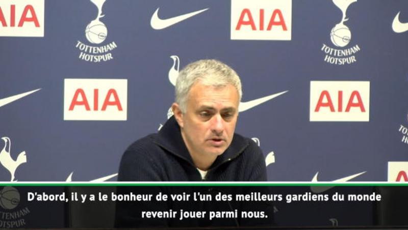 24e j. - Mourinho heureux pour Lloris mais triste pour son deuxième gardien
