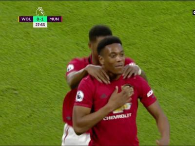 Wolverhampton – Manchester United : l'ouverture du score d'Anthony Martial en vidéo !