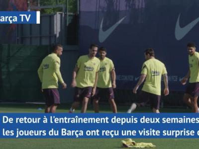 Barcelone - Le président Bartomeu rend visite aux joueurs