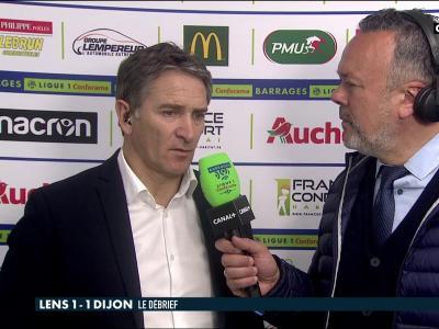 Lens - Dijon (barrage aller) : la réaction de Philippe Montanier avec le 1-1