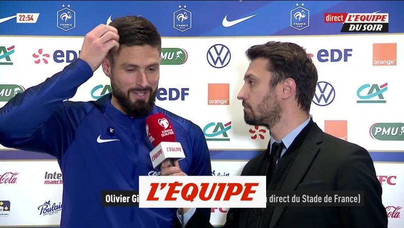 France - Moldavie : la réaction du buteur Olivier Giroud