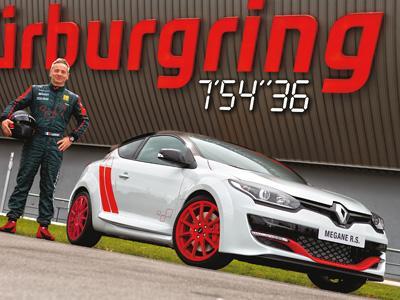 Les images du record de la Mégane R.S. au Nürburgring