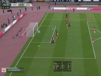 Paris FC - AS Nancy-Lorraine sur FIFA 20 : résumé et buts (L2 - 34e journée)