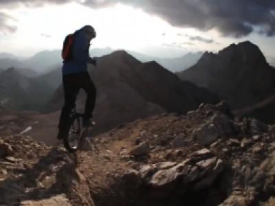 Mono-cycle en montagne