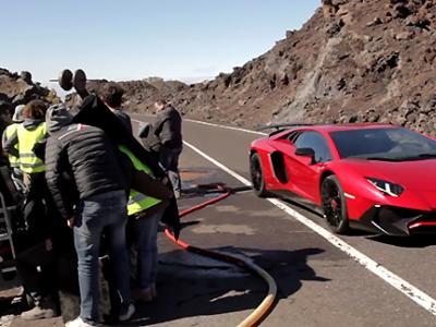 Dans les coulisses de la dernière publicité Lamborghini
