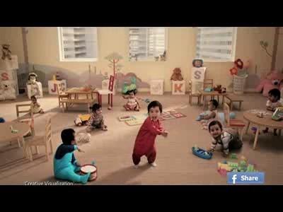Kit Kat fait danser les bébés