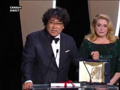 Festival de Cannes 2019 : la réaction de la Palme d'or, le réalisateur Bong Joon-Ho
