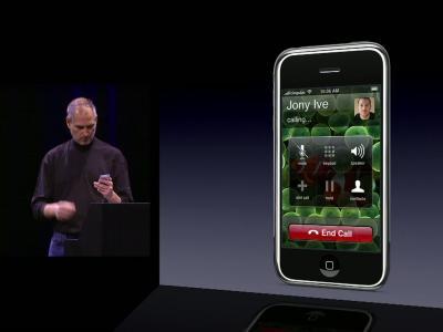 Keynote iPhone du 9 janvier 2007 : démonstration du mode Téléphone