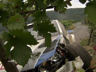 Le crash de Sébastien Ogier au rallye d'Allemagne 2013