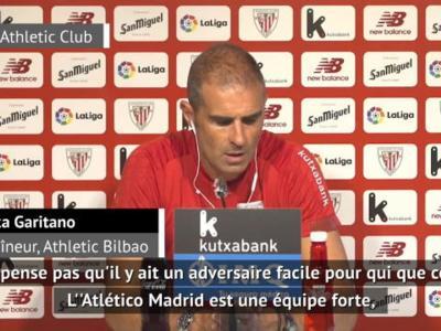 Athletic Bilbao - Garitano rêve de battre l'Atlético pour la reprise