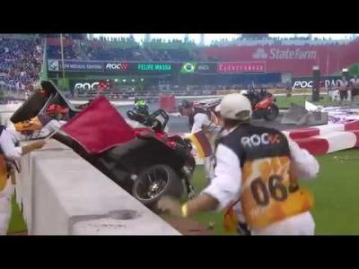 Crash spectaculaire de Wehrlein à la Race of Champions