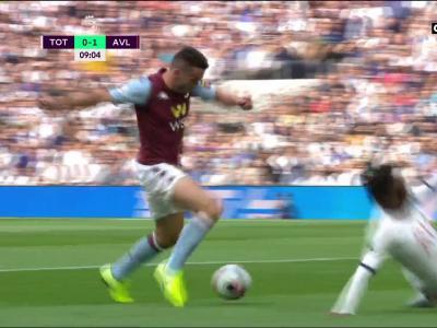 Aston Villa ouvre le score sur leur 1ère occasion face à Tottenham