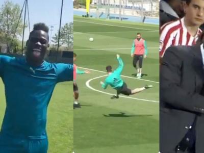 La volée de Ronaldo à l'entraînement, Seedorf et le total contrôle, Balotelli s'amuse...Le Zapping