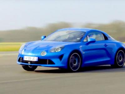 Le Stig de Top Gear UK face au chronomètre en Alpine A110
