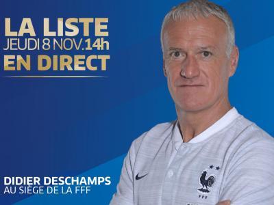 Équipe de France : la liste de Deschamps pour Pays-Bas - France et France - Uruguay
