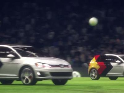 La Volkswagen Golf fête la Coupe du Monde en 3D