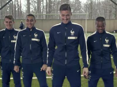 Teddy Riner et l'équipe de France de football