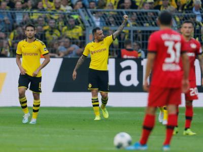 Dortmund : Alcacer ouvre le score face à Leverkusen