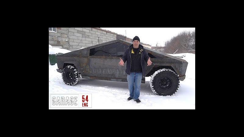 Tesla Cybertruck sur base de UAZ fabriqué par des Russes