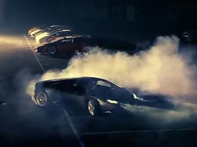 La Lamborghini Huracan brûle de la gomme sur sa première vidéo